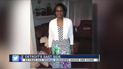 63-year-old woman murdered inside her Detroit home