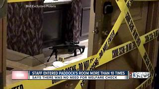 Staff entered mass shooter's room - Video