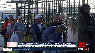 Bakersfield Homeless Center set to host Thanksgiving meal Sunday - Video
