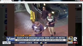 Police searching for persons of interst after shooting on Metro train - Video