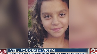 Vigil for NE Bakersfield crash 14-year-old victim - Video