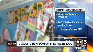 Apply by Thursday for a chance to get free preschool in Tempe