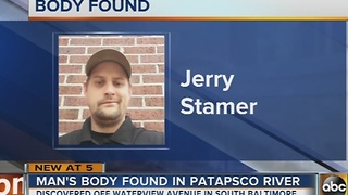 Body of missing man found in the Patapsco River