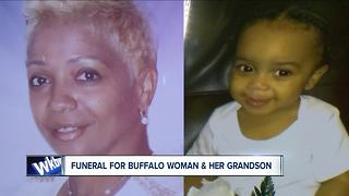 Funeral for grandmother & grandson shooting victims - Video