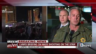 Las Vegas police brief the media on Las Vegas Strip shooting