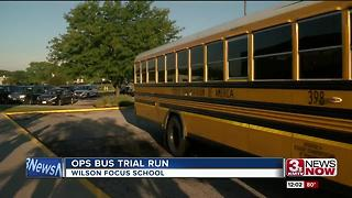 District reviews bus trial run at Wilson Focus - Video