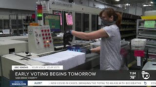 Early voting begins tomorrow in San Diego County