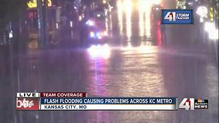 Flash flooding causes problems in KC metro area - Video
