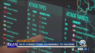 Wi-Fi connections vulnerable to hackers - Video