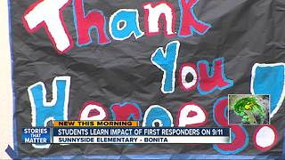 Students meet first responders as part of 9/11 lesson at Sunnyside Elementary - Video