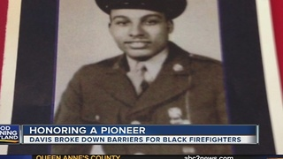 Delmar Davis broke down barriers for black firefighters - Video