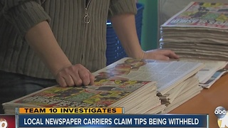 Newspaper customers reach out to carrier after missing tips revealed by Team 10 - Video