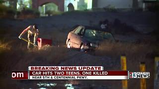 Teen killed, another injured after car loses control - Video
