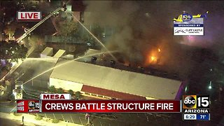 Crews battle massive fire in Mesa