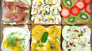 How to make colorful sandwiches for kids - Video