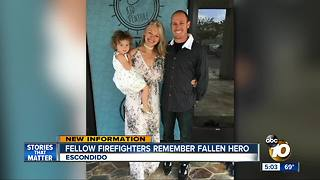 Fellow firefighters remember fallen hero - Video