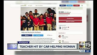Phoenix teacher hospitalized after struck by car - Video