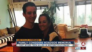 Family wants permanent memorial to honor crash victim - Video