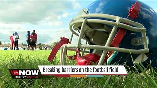 Breaking barriers on the football field - Video