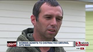 Distracted driver hits man in Council Bluffs - Video