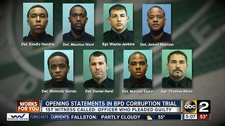 First witness called in Baltimore Police corruption case - Video