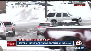 Several inches of snow in central Indiana on March 24 - Video