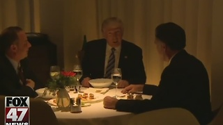 Trump dines with ex-rival Romney - Video