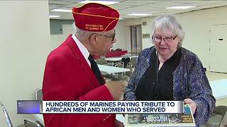 Hundreds of Marines paying tribute to African men and women who served - Video