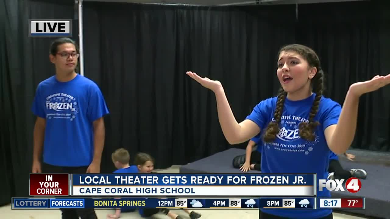 Opening night for Frozen Jr. this week