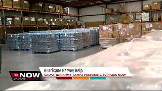 Tampa's Salvation Army prepares to send mass supplies to Texas after Harvey hits - Video