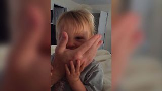 Easily Amused Toddler Goes Crazy - Video