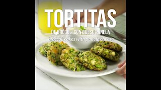 Broccoli Pancakes with Panela Cheese