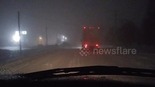 Snow squalls create hazardous driving conditions in Ontario - Video