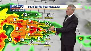 Cooler with a few showers Thursday