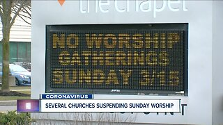 Local churches are suspending service and activities