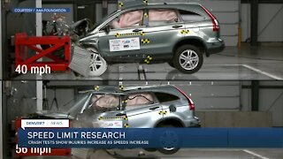 Speed limit research: injuries increase as speed increases