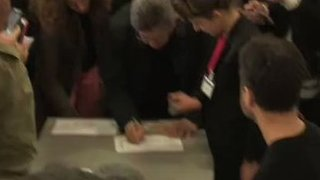 Left-Wing Candidate Jean-Luc Mélenchon Votes in Paris - Video