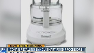 Product Recall: Cuisinart food processors recalled by Conair due to laceration hazard - Video