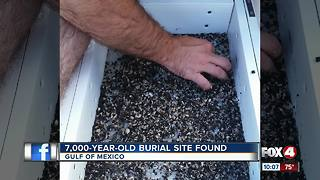 7,000 year old grave found in Gulf of Mexico - Video
