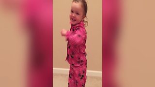 Adorable Tot Girl Teaches You How To Boogie - Video