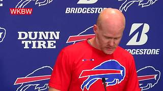 Bills head coach announces that Nathan Peterman will take over at quarterback for Tyrod Taylor - Video
