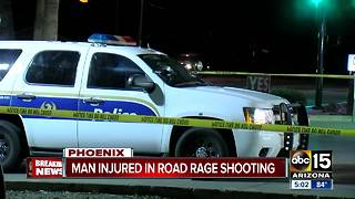 Man hurt in west Phoenix road rage shooting - Video