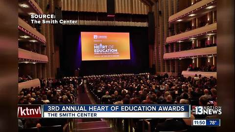 3rd Annual Heart of Education Awards happens at the Smith Center