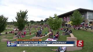 Clarksville's Annual Independence Day Celebration Held At Liberty Park - Video