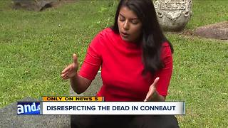 Vandals are disturbing the dead, knocking over tombstones as old as 200 years old - Video