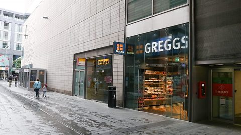 Winged robbery: Shady seagulls steals packet of crisps from Greggs in from of shocked customers