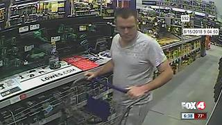 Man caught on camera stealing from Lowes Home Improvement store