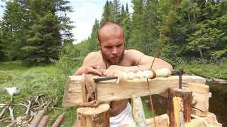 Norwegian Craftsmen Reenact Woodworking 'The Viking Way' - Video