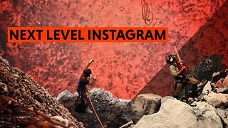 Climb over lava to get a great shot? Sure, why not - Video