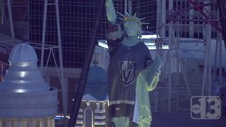 Statue of Liberty wears Vegas Golden Knights Jersey